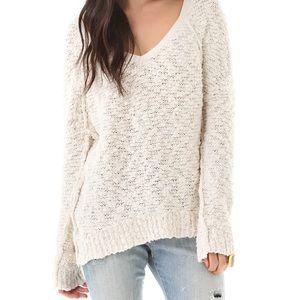 Free People Songbird Sweater White Cream